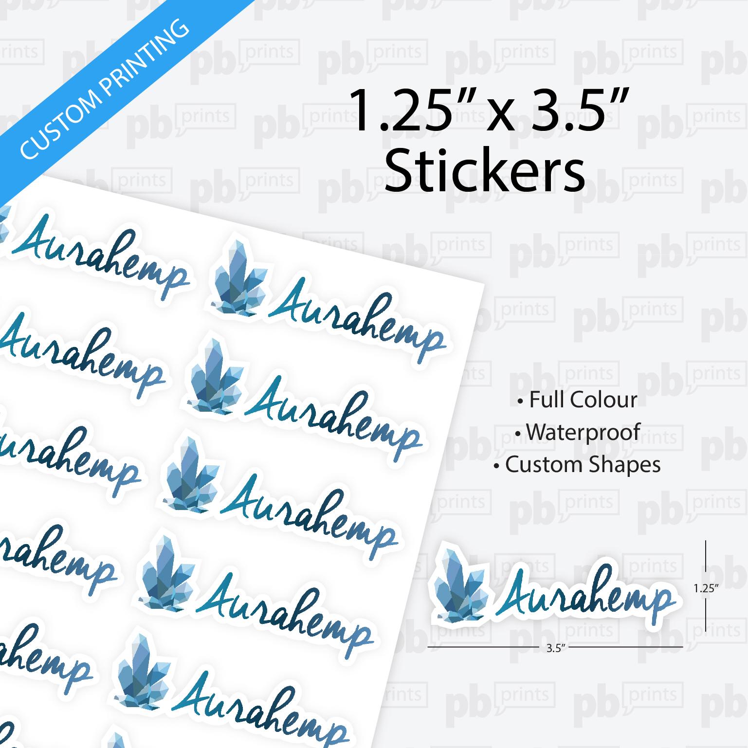 1 25 x 3 5 inch stickers