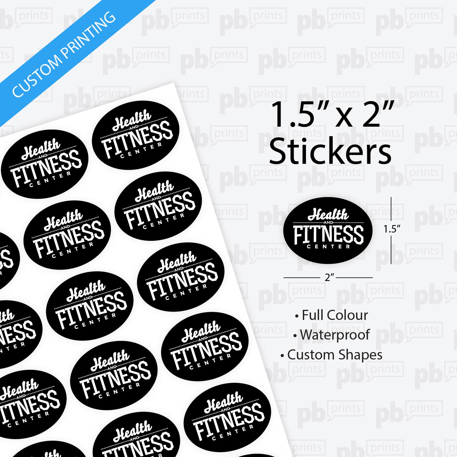 1 5 x 2 inch stickers