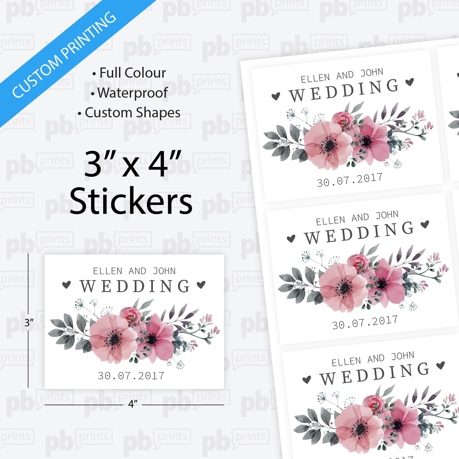 3x4 inch stickers